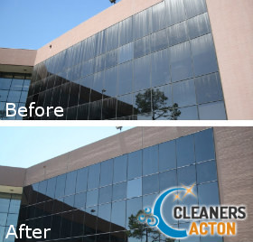 Outside Window Cleaning Before and After